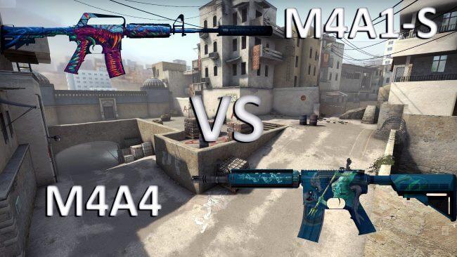 M4a1 vs m4a4